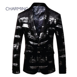 highest quality digital prints UK - Best men's suits, gentleman suit jacket, high quality digital printed fabric, suitable for singer performance, fashion party ball gown