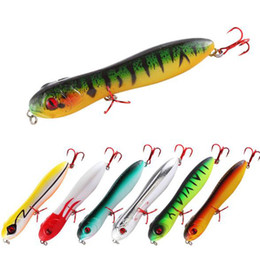 Sea Worms Bait Australia - New Outdoor Fishing Gear Lure Bait Floating Head Pencil Snake Bait 10cm 15g Sea Fishing Freshwater Fishing Baits