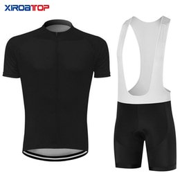 lycra cycling jersey sets NZ - New hot sale Whole black Cycling Jersey Bib Shorts Set Mountain Bike Clothing MTB Bicycle Clothes Wear Maillot Ropa Ciclismo Cycling Set