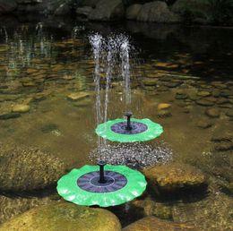 Bomba de agua solar Bomba de agua flotante Kit de paneles Fuente Bomba de piscina Kit Lotus Leaf Charca flotante Riego Bomba de agua sumergible para jardín OOA5045