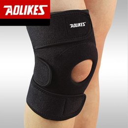 Discount patella knee protector - AOLIKES 1PCS Adjustable Sports Knee Pads Football Basketball Volleyball Leg Knee Support Brace Patella Guard Protector P
