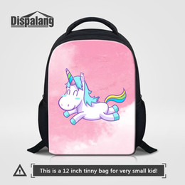 kid backpacks pink purple Canada - Cute Unicorn Cartoon School Bag For Little Girls Custom Design Kids Kindergarten Backpacks Bookbag 12 Inch Mini Back Pack Rugzak