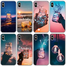 paintings bottles NZ - For iphone 7 8 plus 6 6S Plus X Samsung Galaxy S8 S9 Note 8 Soft TPU Transparent Case Drift Bottle Painted Protective Silicone Cover Shell
