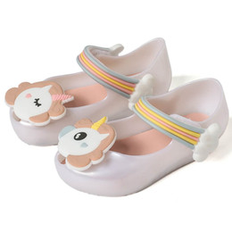 Leather baby shoes pattern online shopping - 2018 New unicorn baby boys shoes girl princess first walkers soft sandals Pony Baoli baby jelly shoes