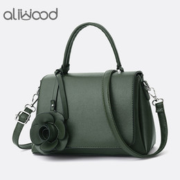 7cf8d519b0 aliwood Elegant Simple Women s Handbags With Rose Flower Leather Tote Ladies  Shoulder Bag Female Crossbody Bags Bolsas Feminina