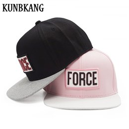 c335c0e0bf0 High Quality Flat Bill Baseball Cap Men Gorras 3D FORCE Snapback Hat  Embroidery Women Bone Vintage Fashion Hip Hop Snapback Caps