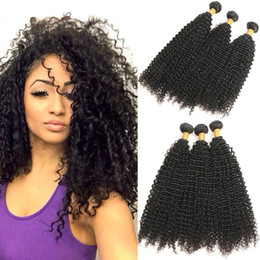 Discount indian remy afro kinky hair weave - Afro Kinky Curly Hair Indian Weave Bundles Indian Kinky Curly Human Hair Bundles Deal Non Remy Extensions total 3 Pcs