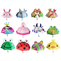 Discount kids cartoon umbrella - Lovely Cartoon Design Umbrella For Kids High Quality Multi Styles Optional Function Umbrella Light 250g NEW NNA181