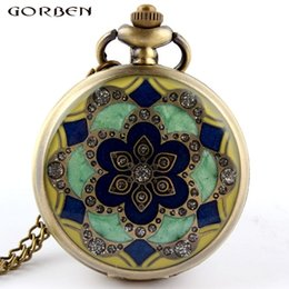 Jade Dresses Australia - Green Jade Crystal Quartz Big Pocket Watch Necklace Pendant Chain Mens Gift P52