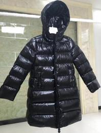 2 couleurs filles 2018 hiver vers le bas jakcet M vers le bas manteau à capuchon taille 90% épais vêtements de plein air pour enfants de vêtements de canard pour Parkas avec sac à poussière