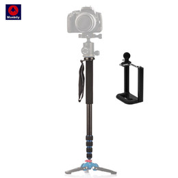 Discount camera stands for phones - wholesale A-222 Portable Professional DSLR Camera Travel Monopod Tripod Stand Video Monopod 165cm for Canon Nikon Sony D