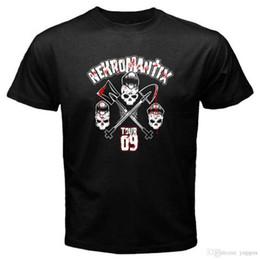 Vente en gros Nouveau T-shirt Homme Noir Nekromantix Tour 09 Psychobilly Band Taille S à 3XL