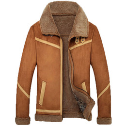 jacket sheep skin Canada - men's winter leather jacket coat sheep skin leather coat 168
