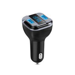 $enCountryForm.capitalKeyWord UK - Wireless FM Transmitter Bluetooth Car Kit MP3 Player Dual USB Car Charger Hands-Free Calling GPS Tracker Location DC 12-24V