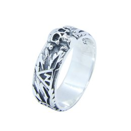 Cycling Skeleton NZ - Rany&Roy New Design 925 Sterling Silver Cycle Skull Ring S925 Hot Selling Lady Girls Ghost Skull Ring