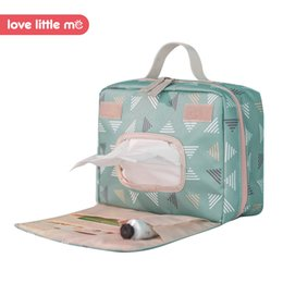 2a560a5daae70 Love Little Me Portable Baby Diaper Bag Maternity Bag Waterproof Wet Cloth  Diaper Reusable Cover Baby Care For Mom