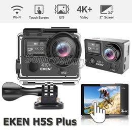 waterproof helmet cams Australia - Newest EKEN H5S Plus Ultra HD Action Camera Touch Screen 2 inch EIS 4k 30fps 720p 200fps 30M waterproof go Helmet Sport Cam