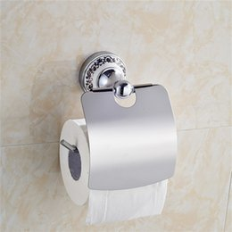 Paper Roll Holders Australia - Ceramic Chrome Brass Wall Mounted Toilet Paper Holder Hot Sale Wholesale And Retail Toilet Roll Holder Waterproof Tissue Paper Holder Bar