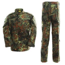 hunting uniforms 2018 - Hunting Special Force Tactical Combat BDU Uniform Shirt Pants Flecktarn cheap hunting uniforms