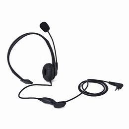 Wholesale Gps Radio UK - Black 2 Pin PTT Microphone Headset M for Motorola Walkie Talkie Two Way Radio GP-300 88 2000 PRO1150 SLS-1110 GP308, GP68