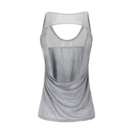 Singlets Shirts UK - KARYZON Sport Yoga Shirt Women Running Gym Tank Tops Fitness Women Breathable Sleeveless Singlet Vest Camisole Hollow Sportswear