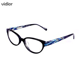 eyes glasses frames for men NZ - VIDIOR2018 Eye Glass Frame Leopard Eyeglasses Frame Women Brand Plain Eye Spectacle Cat Glass Frames for Men Female