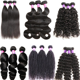 $enCountryForm.capitalKeyWord Australia - Grade 6A Human Hair Weaves 3 4 Bundles 8-26 Inch Brazilian Remy Hair Loose Wave Afro Kinky Body Straight Hair Wefts