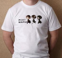 Ingrosso Port Mafia Bungou Cane randagio Ryuunosuke Dazai Chuuya New White Maglietta T-Shirt S-3XL