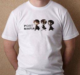Vente en gros Port Mafia Bungou Chien errant Ryuunosuke Dazai Chuuya Nouveau T-shirt Blanc