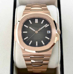 Best silver watches online shopping - Men s Luxury Products Best Quality Classic Series Nautilus A R Date k Rose Gold Sapphire Asia Mechanical Automatic Watches
