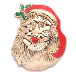 Chinese  New Cute Santa Claus Head Metal Buckle 18mm snap button 2  Piece Fit For Women Jewelry Necklace Bracelet Accessories B24-1 manufacturers