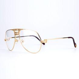 04a8e091a1 Fashion Luxury Eyeglasses Frames Men Eyeglasses Women Diamonds Metal Frame  Eye Clear Myopia Glasses Original Eyewear with Glasses Box CT1130