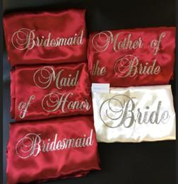 $enCountryForm.capitalKeyWord NZ - personalize wedding Bride Bridesmaid burdung satin pajamas robes Bachelor maid of honor kimonos gowns gifts party favors
