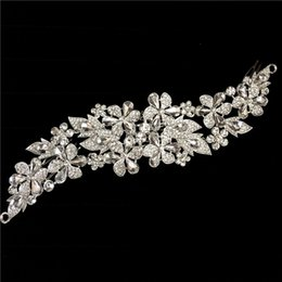$enCountryForm.capitalKeyWord NZ - 2016 New Clear Flower Rhinestone Crystals Wedding Bride Bridal Floral Hair Combs Head Pieces Hair Pins Jewelry Accessories