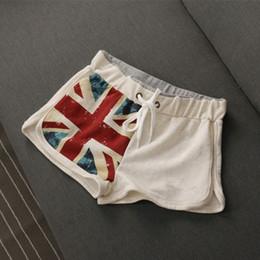 White High Waisted Shorts NZ - High Quality Women's Summer White UK Flag Shorts Women Casual Cotton Short High Waisted United Kingdom Flag Female Skinny Shorts