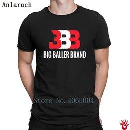 Venta al por mayor de Big Baller Brand T-Shirt Cómodo Unisex personalizado Kawaii Men Camiseta Summer Hiphop Top S-Xxxl Graphic 100% algodón