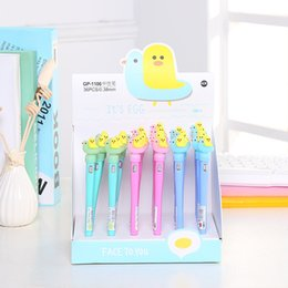 Stationery Australia - Multi-functional Cute Duck Creative Stationery Black Ink Led Flashlight pen Office School Gift Pen H1230