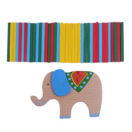 $enCountryForm.capitalKeyWord NZ - Elephant Color Rod Balance Beam Balancing Sticks Blocks Baby Wooden Toys Kids Cartoon Animal Montessori Educational Toy Gift