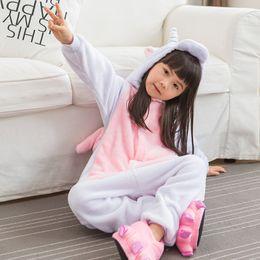 Pink Unicorn Pajamas Children Unisex Pijamas Boy Girl Kid Cartoon Animal  Pyjama Onesie Sleepwear Hoodie e80789767
