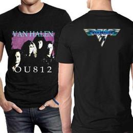 Venta al por mayor de OU182 Camiseta Van Halen Tour [2 lados] Camiseta Algodón Nueva camiseta para hombre Adulto 100% Algodón Camisetas personalizadas Camiseta Buena calidad Camiseta Tops