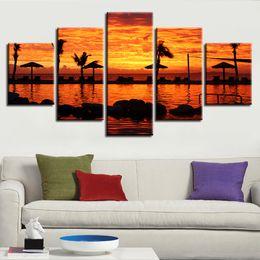 $enCountryForm.capitalKeyWord UK - Modern Artworks Prints Decoration Room Frame 5 Pieces Dusk Sunset Landscape Paintings HD Poster Modular Canvas Pictures Wall Art
