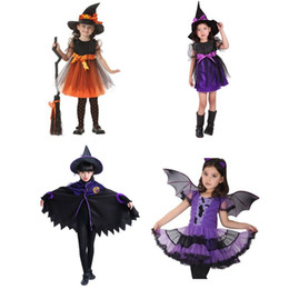 $enCountryForm.capitalKeyWord Australia - Halloween Vampire Witch Cosplay Costumes for Kids Baby Girls Children Girl Princess Fancy Dress Fantasia Carnival Party Props