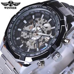 $enCountryForm.capitalKeyWord Australia - Winner Stainless Steel Skeleton Designer Mens Watches Top Brand Luxury Automatic Casual Mechanical Watch Clock Men Wristwatch