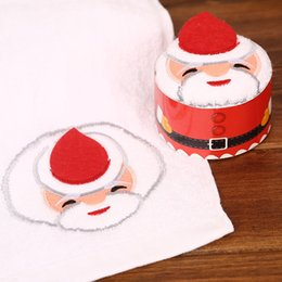 $enCountryForm.capitalKeyWord Australia - 30x30cm Christmas Gift Towel Christmas Ornament Tree Santa Claus Christmas Snowman White Green Red 5pcs Each Bag 2019