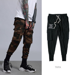 ff0fad2a408 New Trends Camouflage Black Cargo Jogger Pants Male Running Ankle-Tied Pants  Slim Fit Sport Track Preppy Trouser