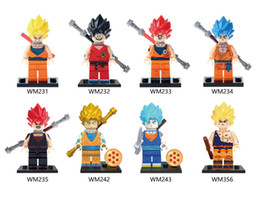 New Building Blocks Dragon Ball Z Goku Vegeta Perfect Cell Majin Gohan  Bardock Bricks Kids Toys Gifts WM6029 729d792a7ff5