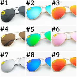 Sun Glasses Black Australia - High Quality Classic Pilot Sunglasses Designer Brand Mens Womens Sun Glasses Eyewear Gold Metal Green 58mm 62mm Glass Lenses black Case DHL
