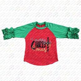$enCountryForm.capitalKeyWord Canada - Merry Christmas kids raglan shirts fall winter baby girls icing ruffle t shirts children boutique cotton 3 4 sleeve tops