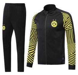 Full Clothes UK - Hot 2018 2019 Borussia Dortmund soccer jacket tracksuit 18 19 Survetement PULISIC REUS M.GOTZE Dott clothes sports wear football jacket kits