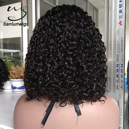 $enCountryForm.capitalKeyWord NZ - 150% density curly bob style chinese virgin hair full lace wigs natural color hair 150% density middle part lace front wig